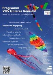 Programmheft Herbst-Winter 2012 als PDF-Datei - Volkshochschule ...