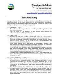 Schulordnung - Theodor-Litt-Schule