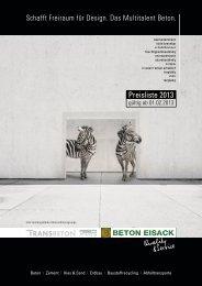 Beton Eisack Preisliste 2013 dt.indd