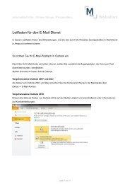 Leitfaden für den E-Mail-Dienst - ML Websites