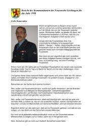 Bericht des Kommandanten - Freiwillige Feuerwehr Gechingen