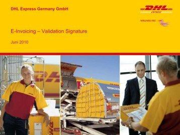 Validierung Signatur - DHL