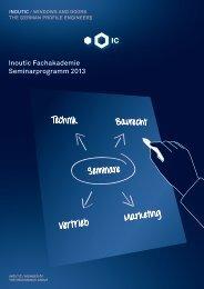 Inoutic Fachakademie Seminarprogramm 2013