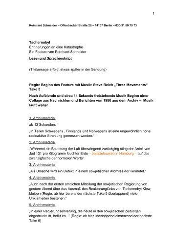 Skript - Reinhard Schneider