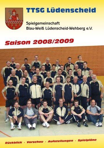 TTSG Magazin 2008-2009 - TTSG Blau-Weiß Lüdenscheid/Wehberg