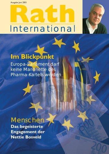 Menschen – Europa-Parlament Darf - Dr. Rath Gesundheits-Allianz