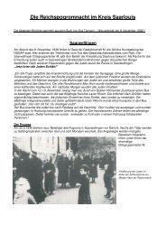 Reichspogromnacht im Kreis Saarlouis