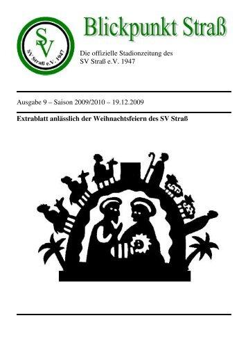 Die offizielle Stadionzeitung des SV Straß e.V. 1947 Ausgabe 9 ...
