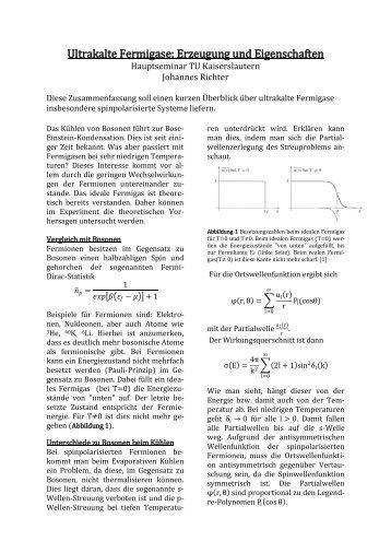 Ultrakalte Fermigase: Erzeugung und Eigenschaften