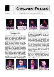 Paulinum-Info 46 - Gymnasium Paulinum