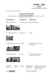 Referenzliste mit Bildern, Energetische Sanierung, Strobl-Bau