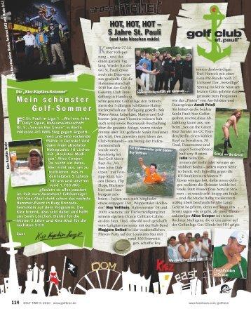 Zum Artikel (pdf) - Golfclub St. Pauli eV