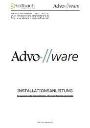 INSTALLATIONSANLEITUNG - Advoware Kanzleisoftware