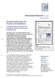 Einsatzempfehlungen für Fenster und Außentüren - Bauherrenhilfe.org