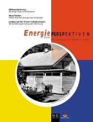Ausgabe 01-2004: Althaussanierung - Neue Fenster - Energie Tirol