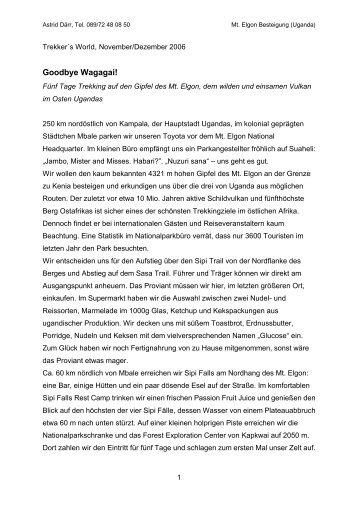Goodbye Wagagai! - Astrid Daerr