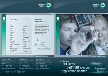 Flyer_Industrial Solutions_EN.pdf - Bühler Motor