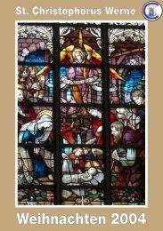 Weihnachtspfarrbrief 2004 - Pfarramt St. Christophorus
