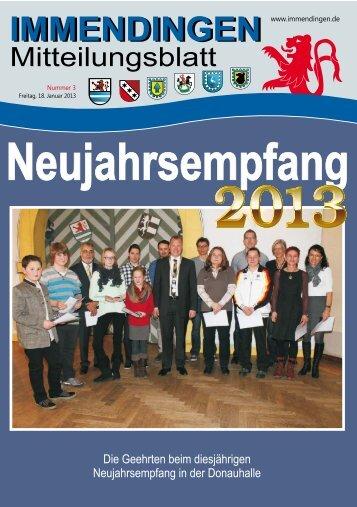 Mitteilungsblatt KW 3 - Immendingen