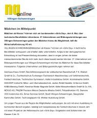 Mädchen im Mittelpunkt - Haller Industriebau GmbH