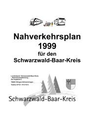 Nahverkehrsplan 1999 - Landratsamt Schwarzwald-Baar-Kreis