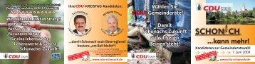 damit Schonach auch überregional bestens - CDU-Schonach
