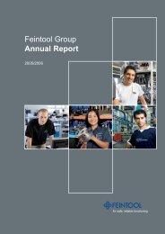 Annual Report (PDF) - Feintool