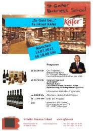 """München 12.07.2011 Ab 18.00 Uhr """"Zu Gast bei..."""" Feinkost Käfer"""