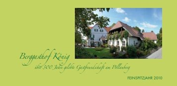 Berggasthof König - Steirische Weingasthöfe