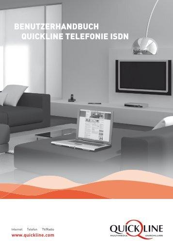 Benutzerhandbuch Quickline telefonie Isdn - GA Weissenstein