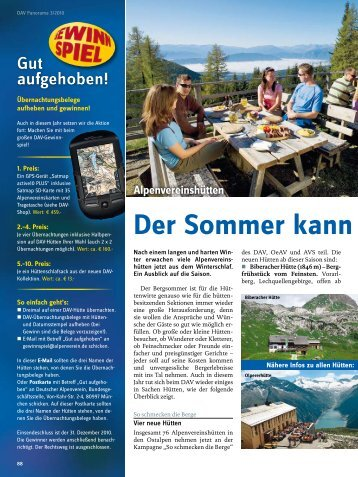 Der Sommer kann kommen! - Deutscher Alpenverein