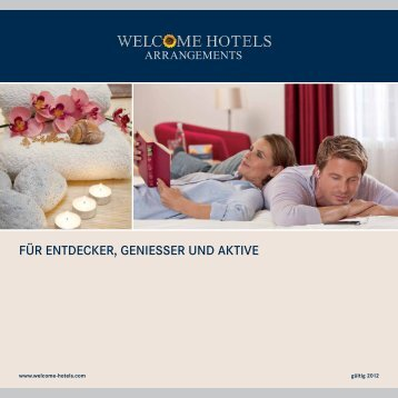 Arrangementbroschüre - Welcome Hotels
