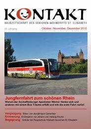 Jungfernfahrt zum schönen Rhein - Senioren-Wohnstift St. Elisabeth