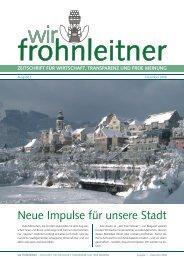 Ausgabe 1 – Dezember 2008 - Wir Frohnleitner