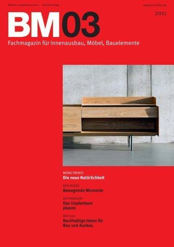 BM Artikel Tischlerei Feinschliff - Heft 03-2011 ... - Schreiners Büro