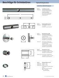 Beschläge für Schiebetüren Systemkomponenten