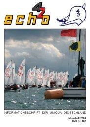 ECHO Nr.162 / Jahresheft Saison 2009 - Uniqua Deutschland
