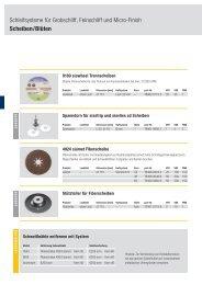 Schleifsysteme für Grobschliff, Feinschliff und Micro-Finish Scheiben ...