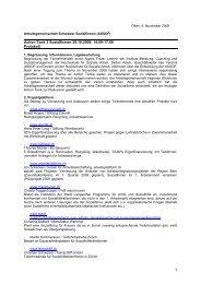 Protokoll Action Tank 3.pdf - Arbeitsgemeinschaft Schweizer ...