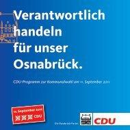 Unser aktuelles Wahlprogramm zur Kommunalwahl - CDU ...