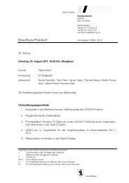 Protokoll - 30.08.2011