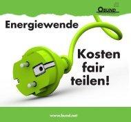 Energiewende: Kosten fair teilen - BUND für Umwelt und ...