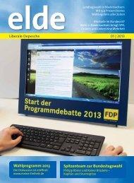 Aktuelle Ausgabe 1 | 2013 als PDF-Dokument - Elde Online