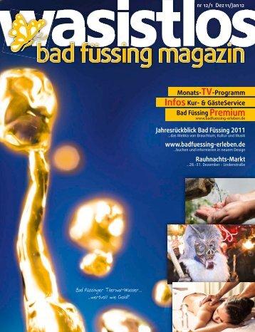 wasistlos badfüssing-magazin - Ausgabe Dez/Jan 2011/2012