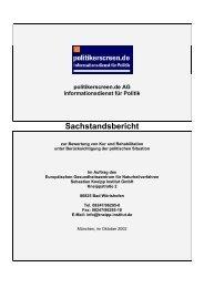 Sachstandsbericht zur Bewertung von Kur und Rehabilitation unter