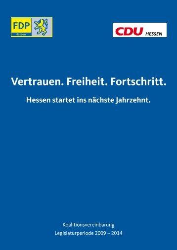 Koalitionsvereinbarung Legislaturperiode 2009 – 2014 - Hessen