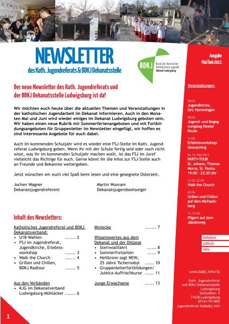 NEWSLETTER - Katholisches Jugendreferat | BDKJ Dekanatsstelle ...