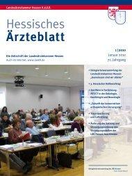 Hessisches Ärzteblatt Januar 2010 - Landesärztekammer Hessen