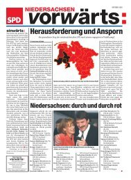 Die Oktober-Ausgabe 2005 des Niedersachsen vorwärts als - SPD ...