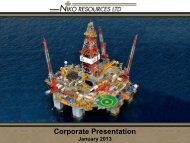 Corporate Presentation January 2013 - Niko Resources